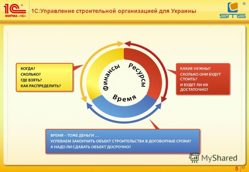 5 4343 1С:Управление строительной организацией для Украины