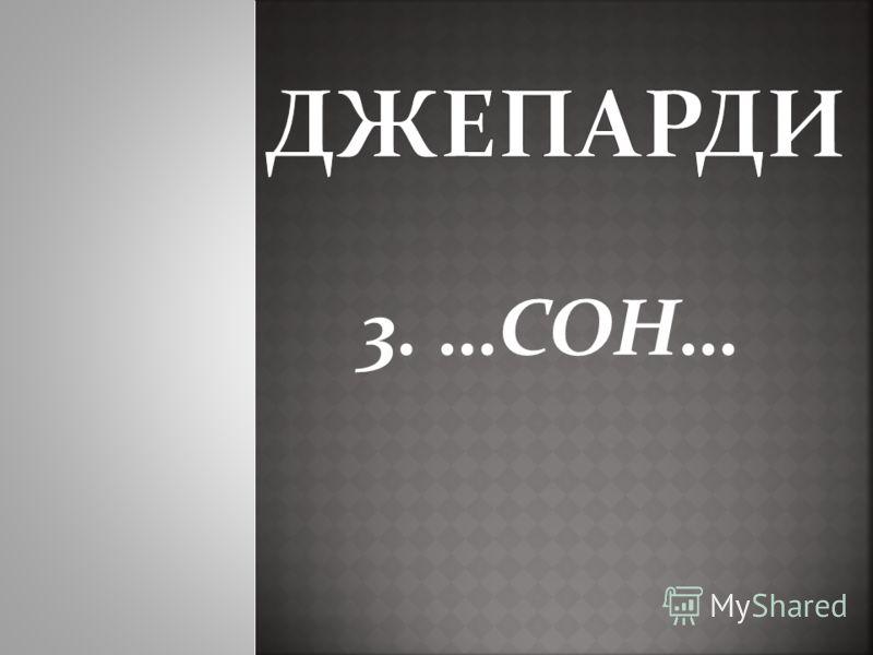 3. …СОН…