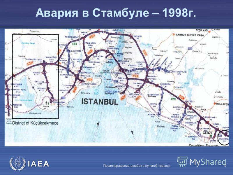 IAEA Предотвращение ошибок в лучевой терапии10 Авария в Стамбуле – 1998г.