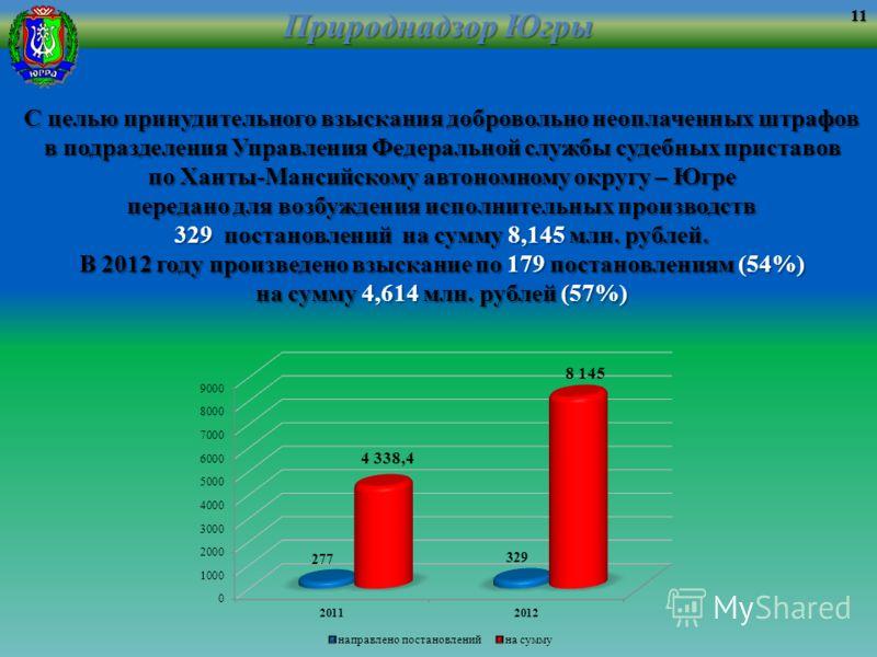 Природнадзор Югры С целью принудительного взыскания добровольно неоплаченных штрафов в подразделения Управления Федеральной службы судебных приставов по Ханты-Мансийскому автономному округу – Югре передано для возбуждения исполнительных производств 3