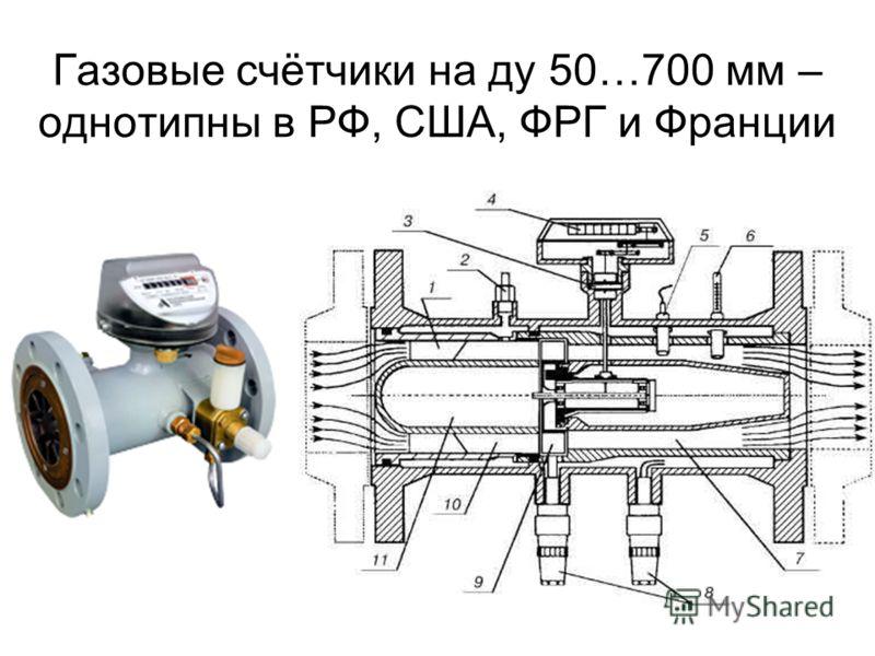 Газовые счётчики на ду 50…700 мм – однотипны в РФ, США, ФРГ и Франции
