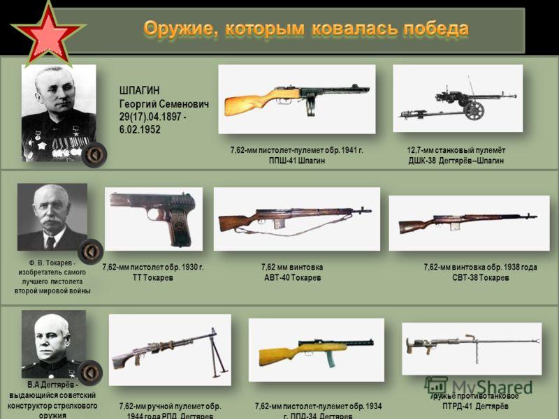 К началу Великой Отечественной войны система стрелкового вооружения РККА в целом соответствовала условиям того времени и состояла из следующих видов вооружения: личное (пистолет и револьвер), индивидуальное оружие стрелковых и кавалерийских подраздел