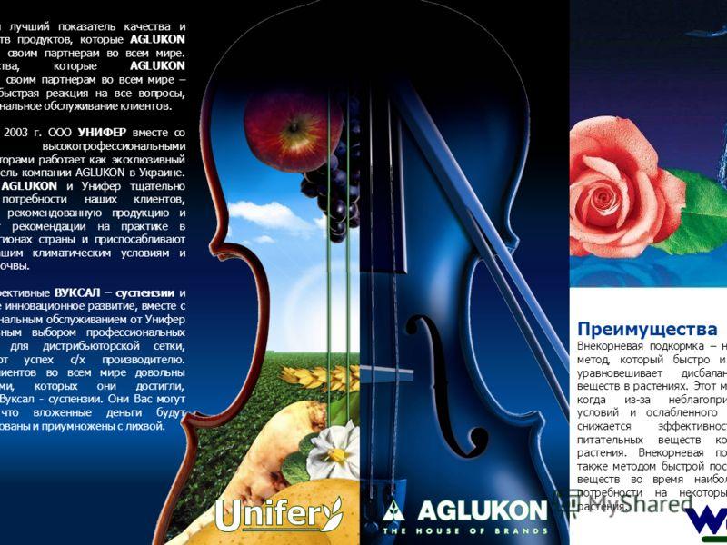 AGLUKON GmbH - известный во всем мире производитель удобрений-суспензий для внекорневой подкормки. Компания была основана в 1928 году и начала свою деятельность с разработки и производства высококачественных удобрений. В 1938 году компания выпустила