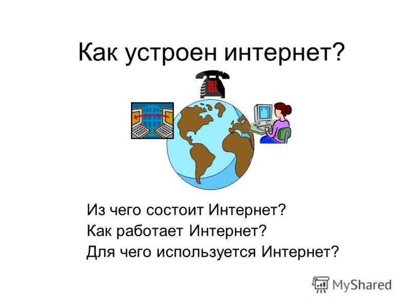 Как устроен интернет? Из чего состоит Интернет? Как работает Интернет? Для чего используется Интернет?