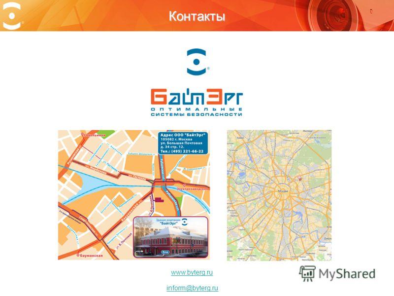 Контакты www.byterg.ru inform@byterg.ru