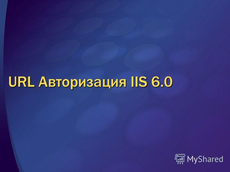 URL Авторизация IIS 6.0