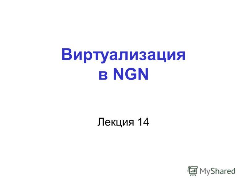 Виртуализация в NGN Лекция 14