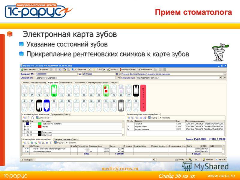 Слайд 35 из хх Вакцина - профилактика medic@rarus.ru Дозировки Календарь прививок Тип прививки Виды иммунизации Результаты реакций