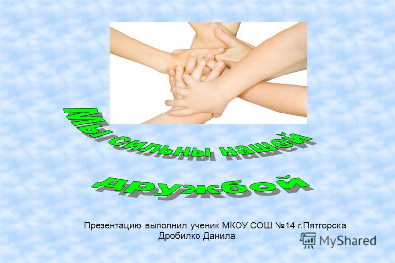 Презентацию выполнил ученик МКОУ СОШ 14 г.Пятгорска Дробилко Данила