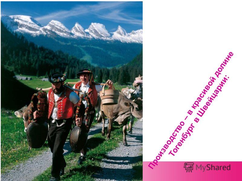 Производство – в красивой долине Тогенбург в Швейцарии: