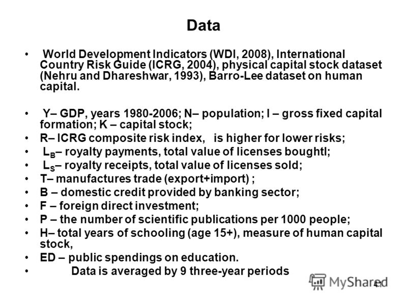 icrg international country risk guide The international country risk guide (icrg) rating comprises 22 variables in three subcategories of risk: political, financial, and economic a separate index is created for each of.