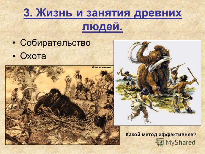 3. Жизнь и занятия древних людей. Собирательство Охота Какой метод эффективнее?