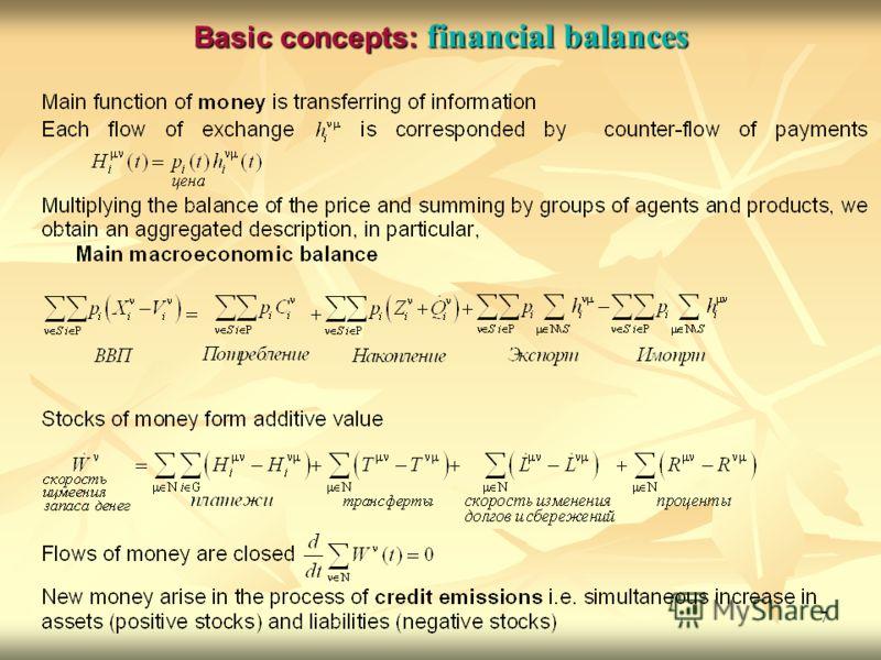 7 Basic concepts: financial balances