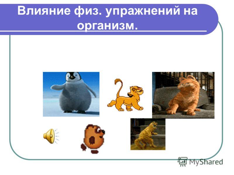Влияние физ. упражнений на организм.