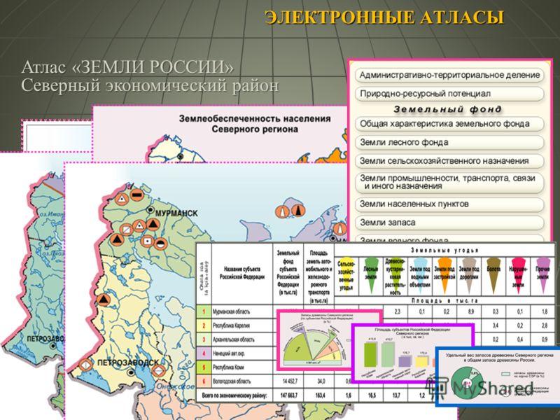 ЭЛЕКТРОННЫЕ АТЛАСЫ Атлас «ЗЕМЛИ РОССИИ» Северный экономический район
