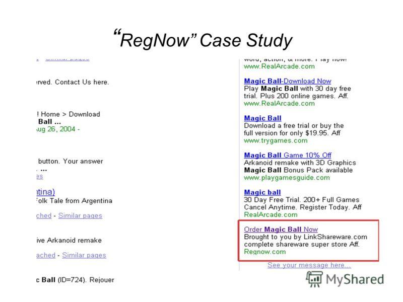 RegNow Case Study