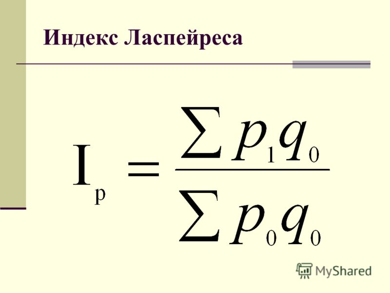 Индекс Ласпейреса