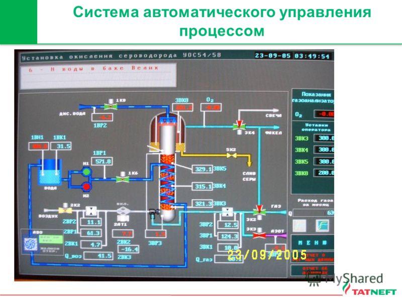 Система автоматического управления процессом