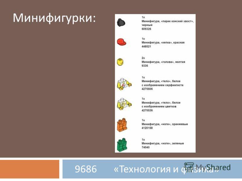 9686 « Технология и физика » Минифигурки:
