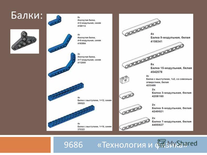 9686 « Технология и физика » Балки: