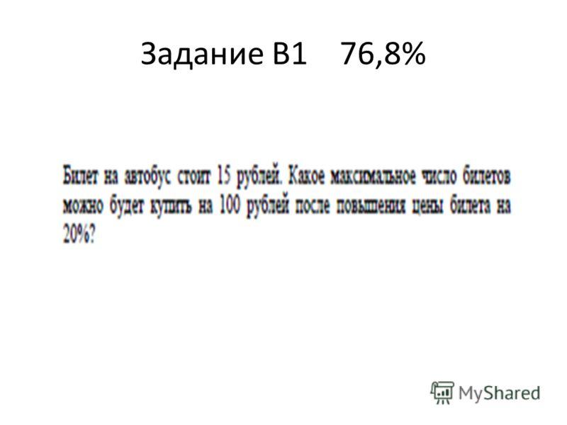 Задание В1 76,8%
