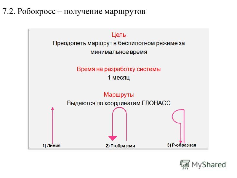 7.2. Робокросс – получение маршрутов