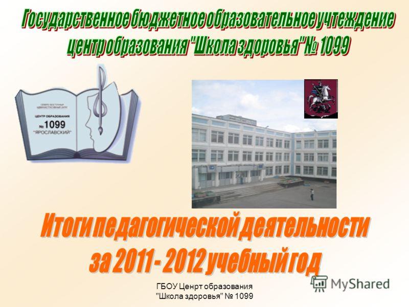 ГБОУ Ценрт образования Школа здоровья 1099