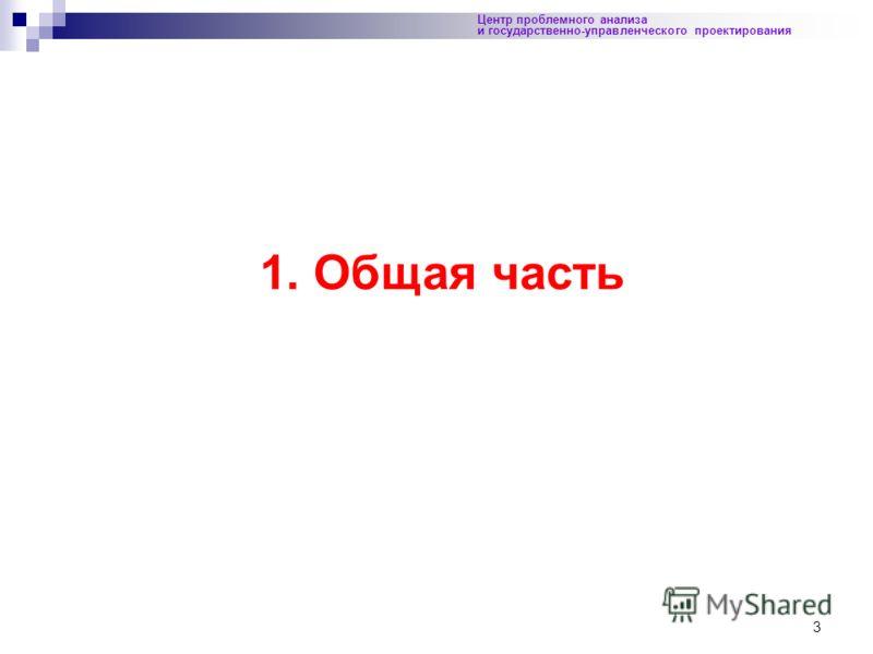 3 Центр проблемного анализа и государственно-управленческого проектирования 1. Общая часть