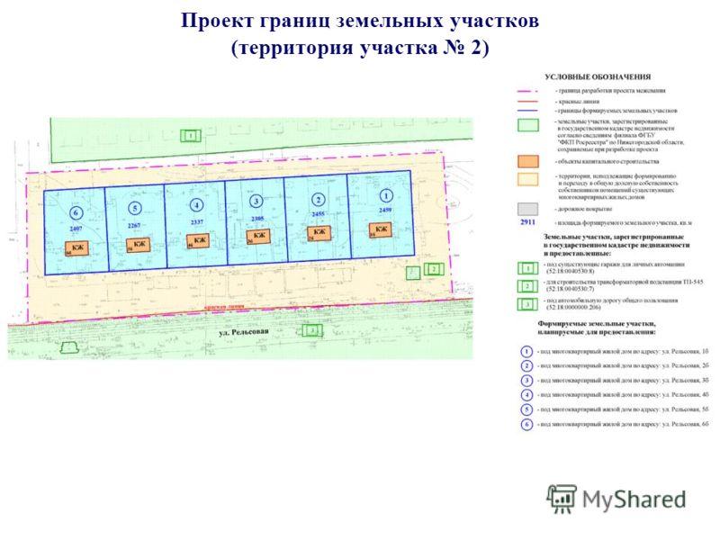 Проект границ земельных участков (территория участка 2)