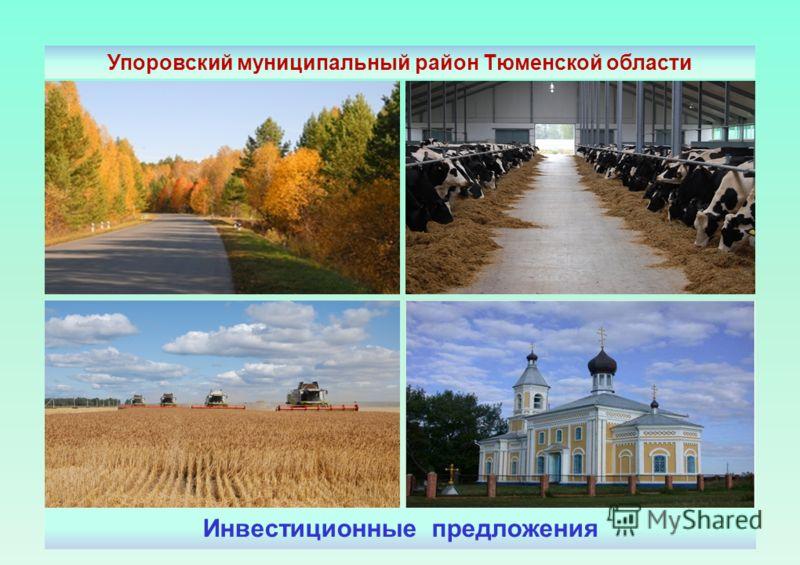 Инвестиционные предложения Упоровский муниципальный район Тюменской области