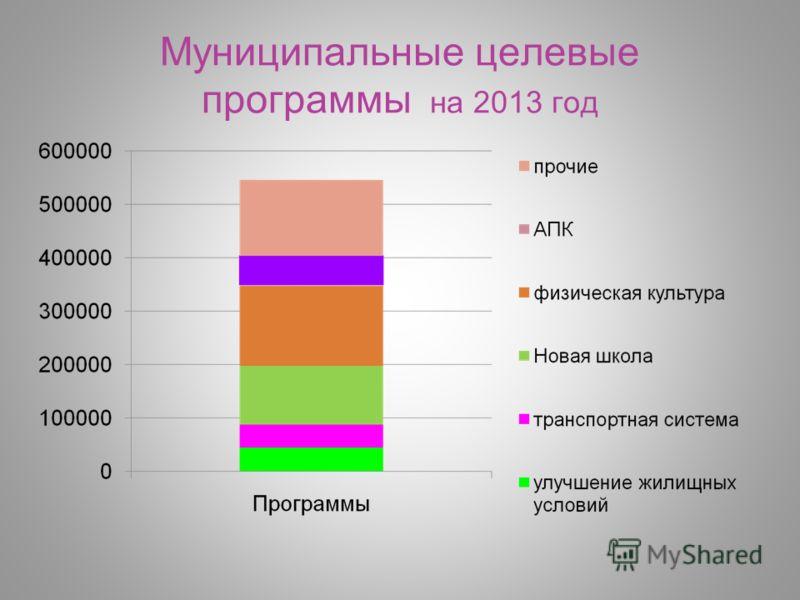 Муниципальные целевые программы на 2013 год