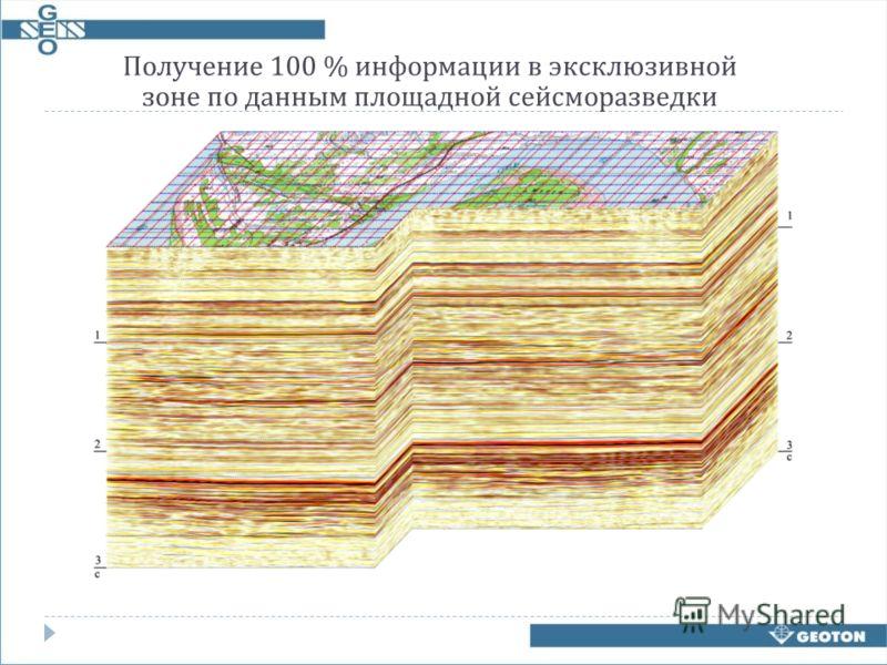 Получение 100 % информации в эксклюзивной зоне по данным площадной сейсморазведки