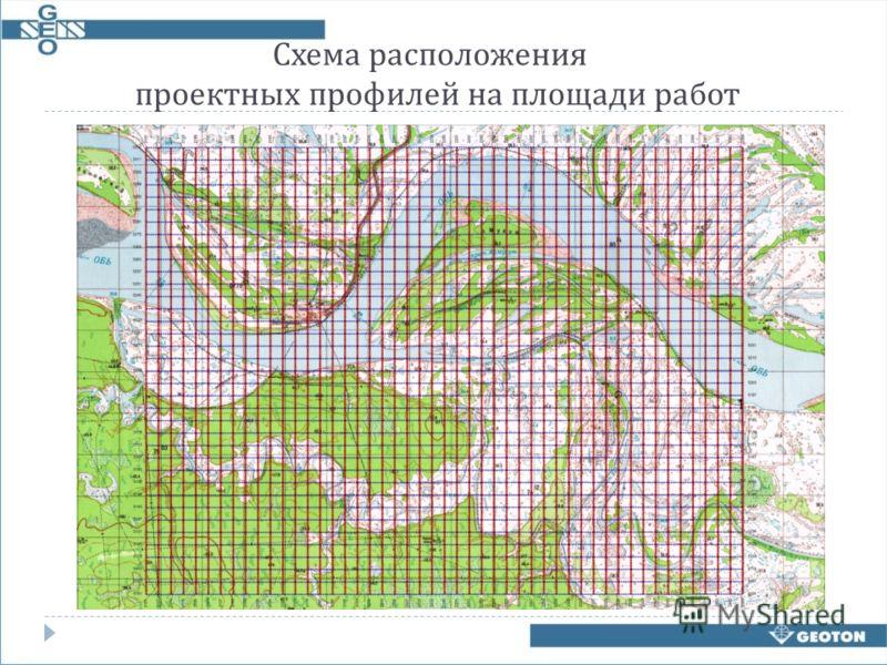 Схема расположения проектных профилей на площади работ