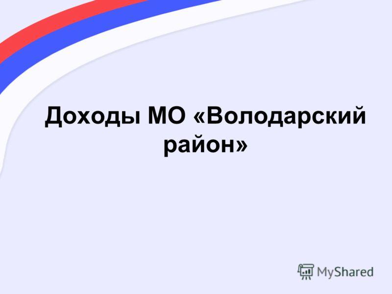 Доходы МО «Володарский район»