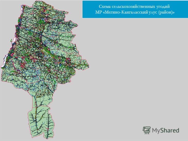 Схема сельскохозяйственных угодий МР «Мегино-Кангаласский улус (район)»