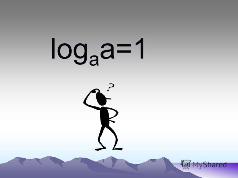 log a a=1