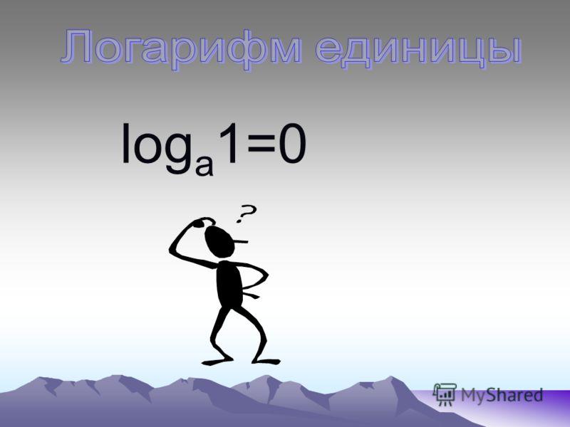 log a 1=0