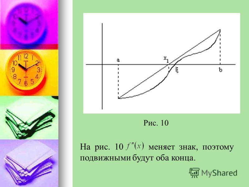 Рис. 10 На рис. 10 меняет знак, поэтому подвижными будут оба конца.