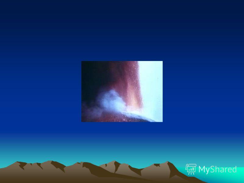 Вулканизм Самым красивым и высоким вулканом Камчатки является Ключевская Сопка. 4750 м. Правильным конусом он поднимается до 4750 м. Вершина его покрыта снегами и ледниками, а из кратера почти непрерывно выделяются газы. Извержения происходят в средн