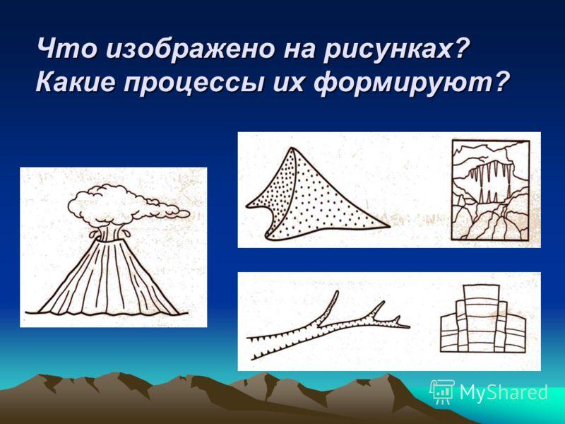 Развитие рельефа Эндогенные процессы Крупные формы рельефа Землетрясение, вулканизм Экзогенные процессы Мелкие формы рельефа Оползни, сели, обвалы, лавины