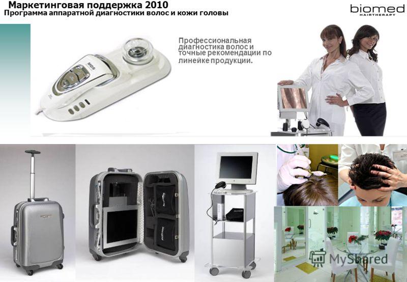 Профессиональная диагностика волос и точные рекомендации по линейке продукции. Маркетинговая поддержка 2010 Программа аппаратной диагностики волос и кожи головы