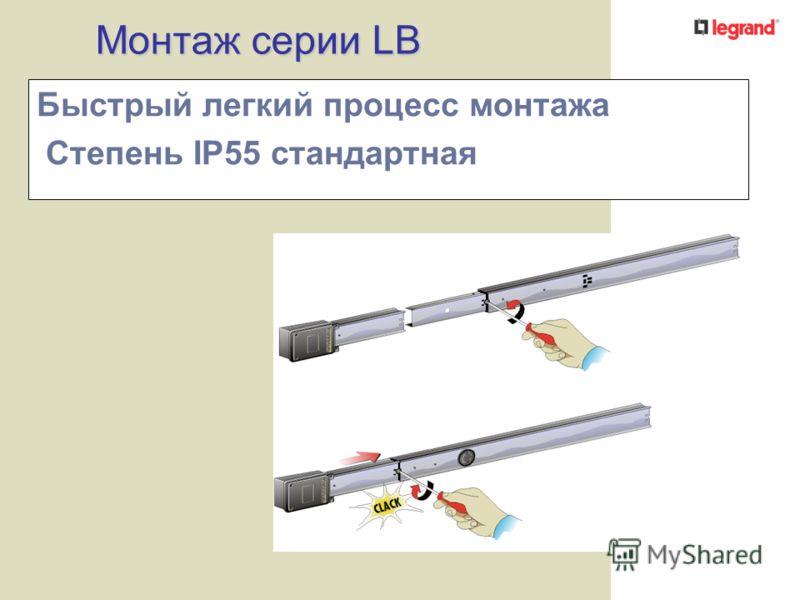 Монтаж серии LB Быстрый легкий процесс монтажа Степень IP55 стандартная