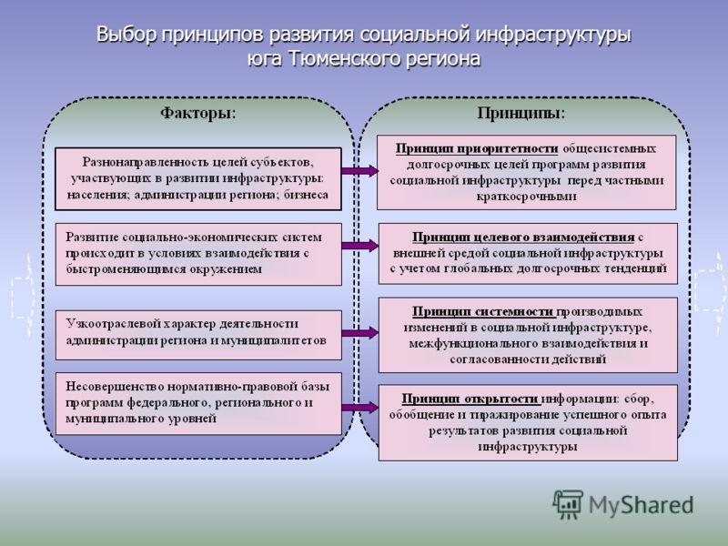 Выбор принципов развития социальной инфраструктуры юга Тюменского региона
