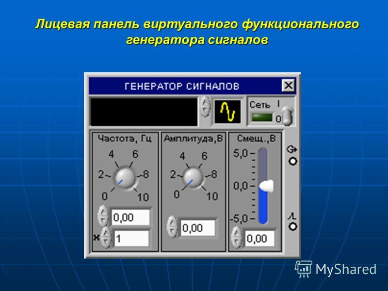 Лицевая панель виртуального функционального генератора сигналов