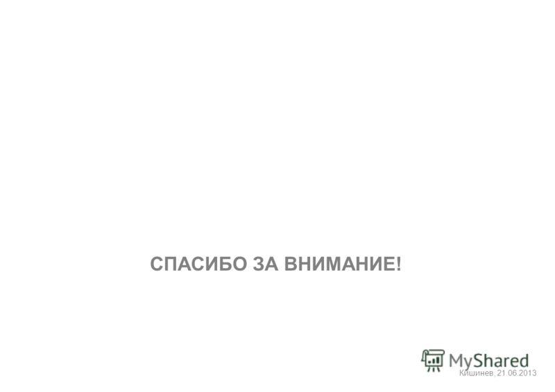 Кишинев, 21.06.2013 СПАСИБО ЗА ВНИМАНИЕ!
