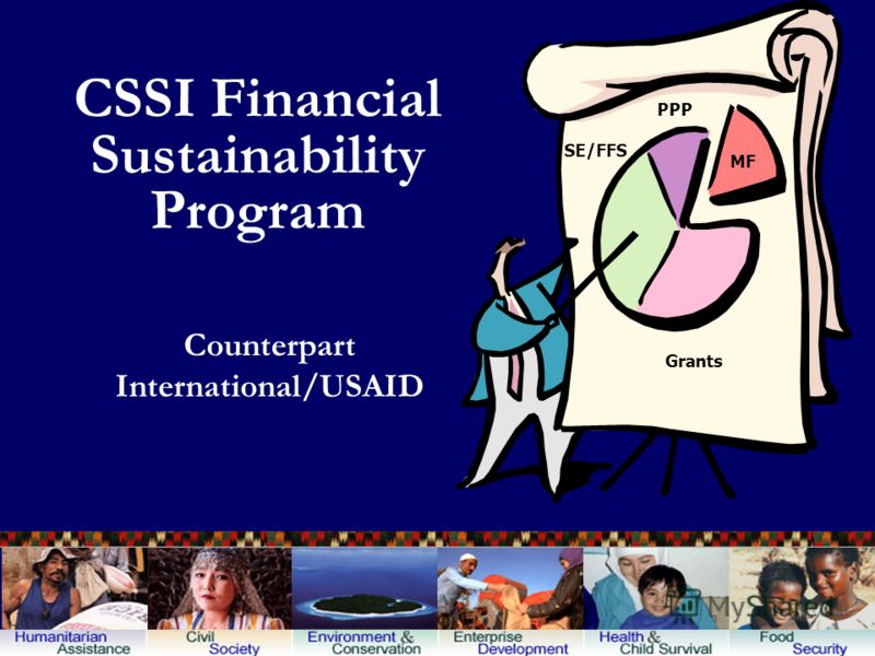 CSSI Financial Sustainability Program Counterpart International/USAID Grants SE/FFS PPP MF