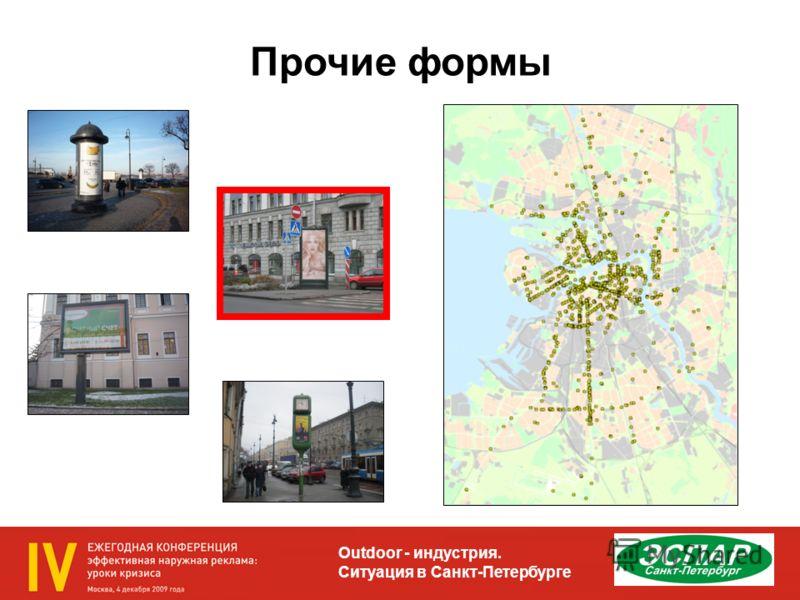 Outdoor - индустрия. Ситуация в Санкт-Петербурге Прочие формы