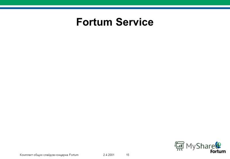 Комплект общих слайдов концерна Fortum152.4.2001 Fortum Service