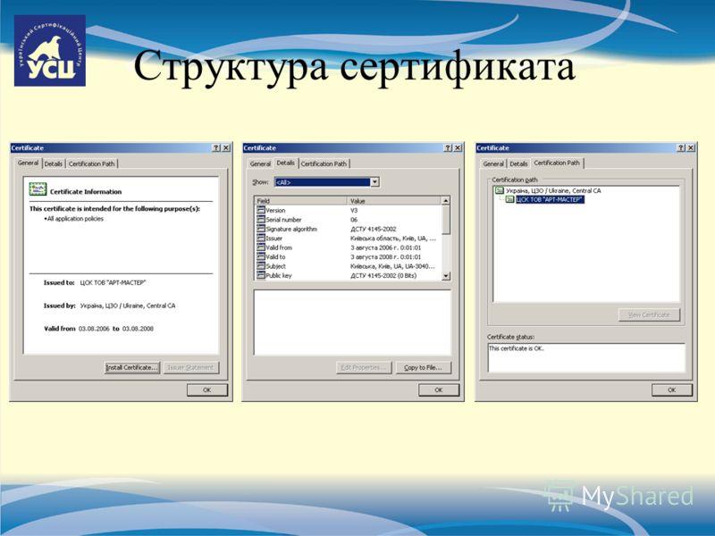 Структура сертификата