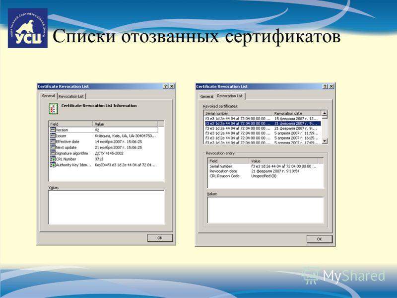 Списки отозванных сертификатов